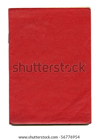 Obsolete dirty stained notebook isolated on white