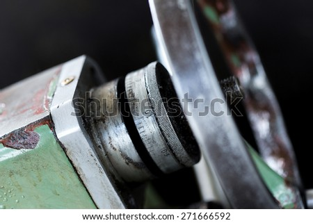 Obsolete Industry Machine in factory - stock photo