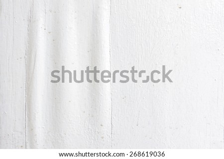 Obsolete wavy painted wood surface texture and pattern - stock photo