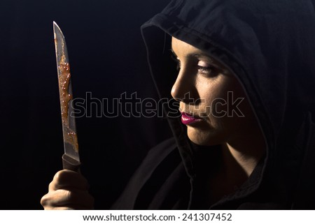 Occultist woman - stock photo
