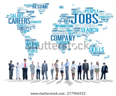 Occupation Job Careers Expertise Human Resources Concept - stock photo