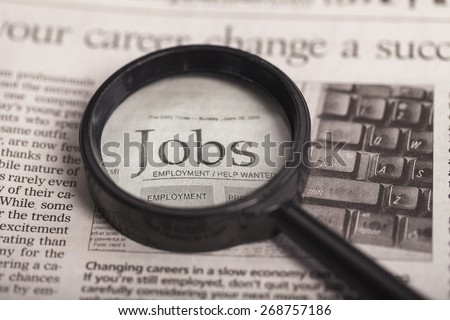 Occupation, Job Search, Employment Issues. - stock photo