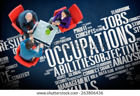 Occupations Careers Community Experience Global Concept - stock photo