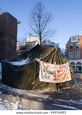 Occupy The Netherlands - stock photo