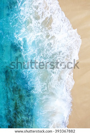 ocean and beach sand in summer - stock photo