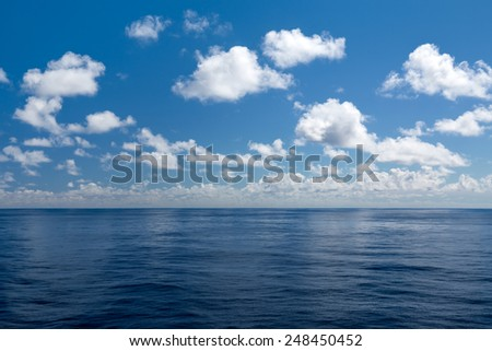 Ocean background - stock photo