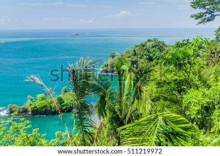 Ocean coast in National Park Manuel Antonio, Costa Rica
