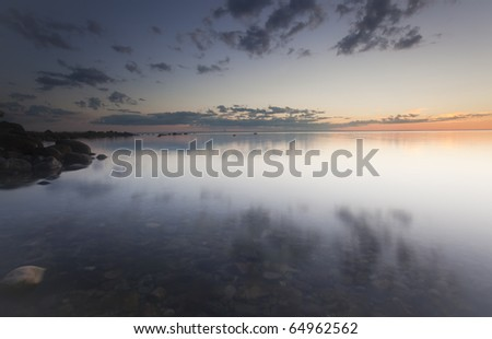 Ocean coast scene - stock photo