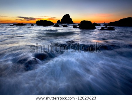 Ocean Flow - stock photo