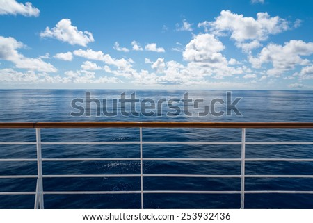 Ocean from cruise ship - stock photo