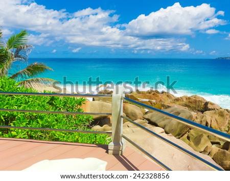 Ocean Getaway Storm  - stock photo