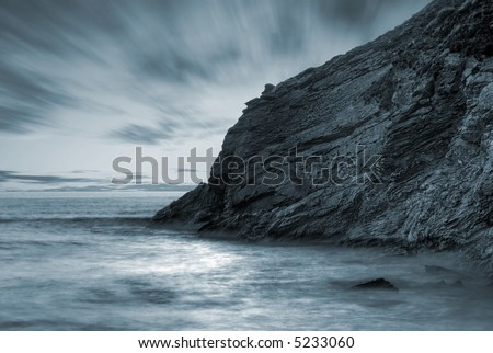 Ocean landscape - stock photo