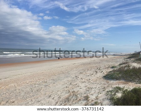 Ocean sand dunes - stock photo
