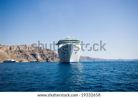 ocean ship - stock photo