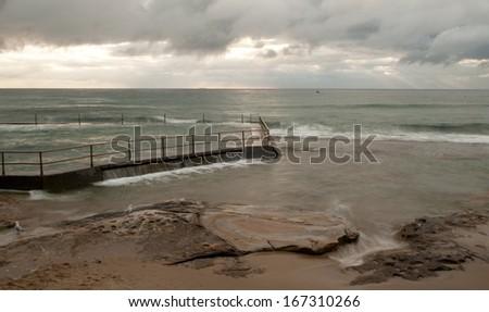 Ocean Sunrise, Sydney - stock photo