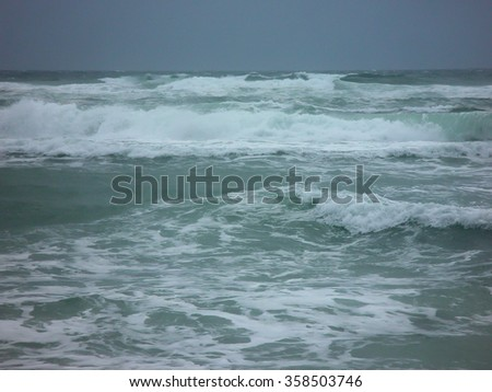 Ocean view for background - stock photo