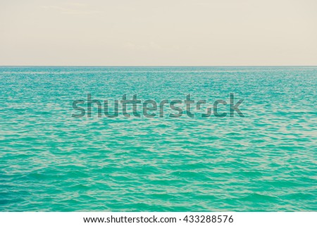 ocean water made with vinatge filter - stock photo