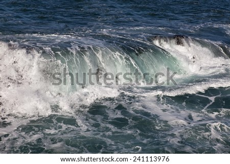 Ocean Wave . Atlantic  Canary islands - stock photo