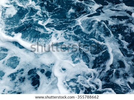 Ocean wave High Angle View Of Rippled Water - stock photo