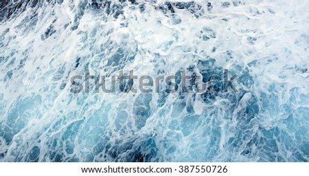 Ocean wave High Angle View Of Rippled Water Splashing Waves Ocean - stock photo