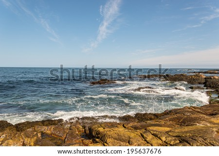 Ocean waves crashing against shore (Duncan's Cove, Nova Scotia, Canada)