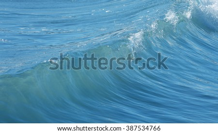 Ocean waves details abstract background, travel concept