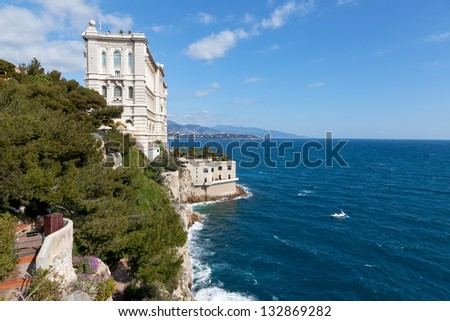Oceanographic Museum of Monaco - stock photo