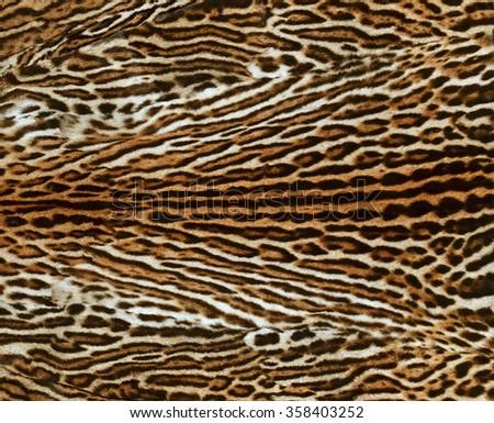 ocelot fur texture - stock photo