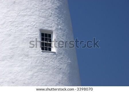 Ocracoke Lighthouse Window - stock photo