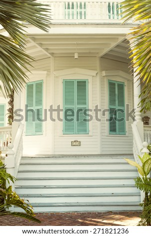 Octagon House in Key West, Florida - stock photo