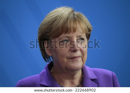 OCTOBER 9, 2014 - BERLIN: Angela Merkel - meeting of the German Chancellor with the new Polish Prime Minister, Chanclery, Berlin.