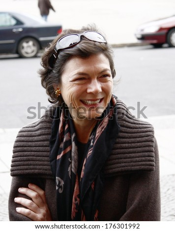 OCTOBER 5, 2008 - BERLIN: Diana Taylor, the partner of Michael Bloomberg, during the visit of the mayor of New York in the Berlin City Hall. - stock photo
