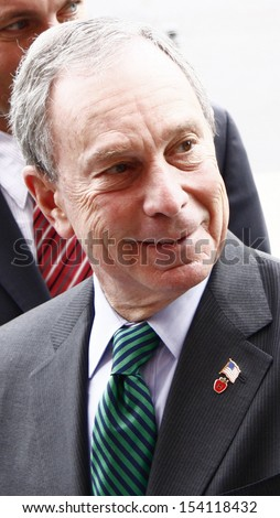 OCTOBER 5, 2008 - BERLIN: the mayor of New York City, Michael Bloomberg, during a visit at his Berlin counterparts office, City Hall, Berlin. - stock photo