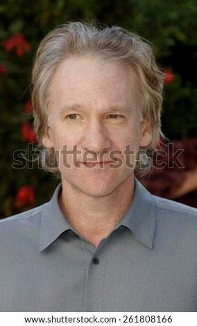 October 5, 2005. Bill Maher. Friends of the late comic legend Rodney Dangerfield gather together to commemorate the one-year anniversary of his passing at the home of Joan Dangerfield in Hollywood.  - stock photo