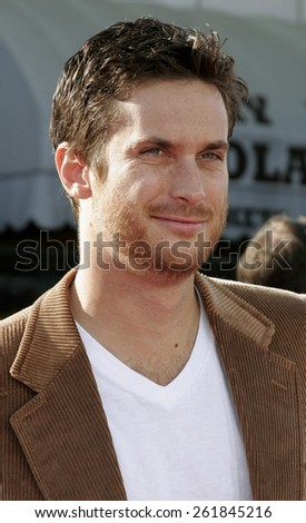 "October 9, 2005 - Oliver Hudson at the ""Dreamer"" Los Angeles Premiere at the Mann Village Theatre Westwood, California United States.  - stock photo"