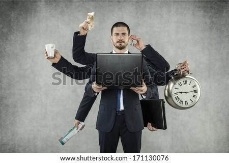 Octopus in Business - stock photo