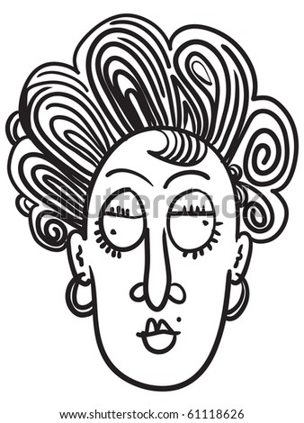 Nervous cartoon face stock vector 95538046 shutterstock odd old lady hand drawn doodle ccuart Choice Image