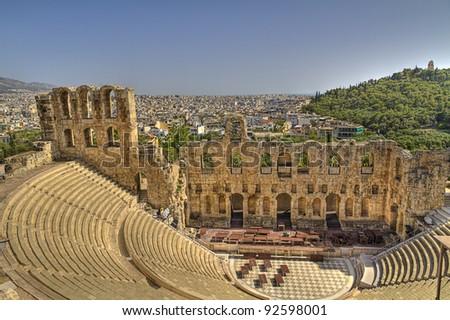 Odeon of Herodes Atticus  Athens,Greece - stock photo