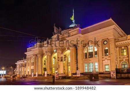 Odessa Main Rail Station - Ukraine - stock photo