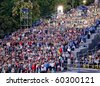 ODESSA, UKRAINE - SEPTEMBER 2: People watch free music festival during the 216th birthday of Ukrainian city Odessa on September 2, 2010 in Odessa. Concert is carried out by the  famous Potemkin Stairs - stock photo
