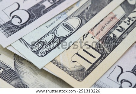of the banknotes with nominal figures - stock photo