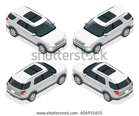 Offroad Car Modern Vip Transport Flat Stock Illustration 606931655