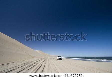 Off Road 4x4 adventure, Namib Desert, Namibia - stock photo
