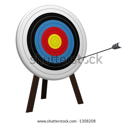 Off Target high resolution 3D rendering - stock photo