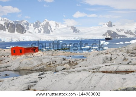 Off the coast of Antarctica - stock photo
