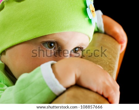 Offended by a child who is hiding. - stock photo
