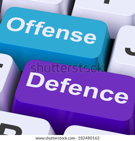 Offense Defence Keys Showing Attack Or Defend