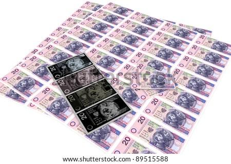 Offense - Falsification of money - stock photo
