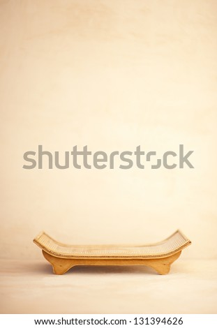 Offering and support. Zen service tray in a simple still life photograph. - stock photo