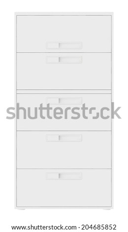 office archives cabinet. isolated on white background - stock photo